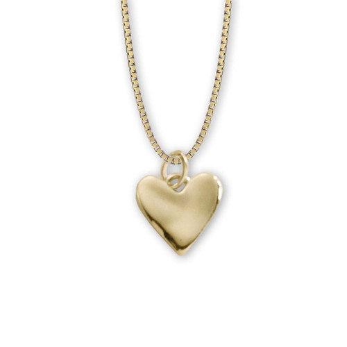 Exotic 14kt Gold Wobble Heart Pendant