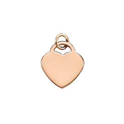 14kt Rose Gold Padlock Heart Pendant