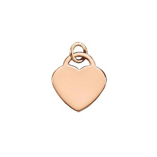 14kt Gold Classic Padlock Heart Pendant