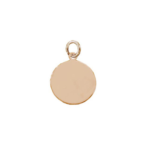 Beautiful 14kt Rose Gold Round Plaque Charm or Pendant