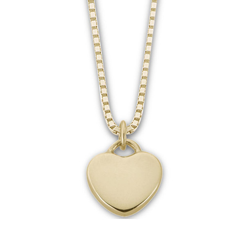 "14kt Candy Heart Pendant ""Plain"""
