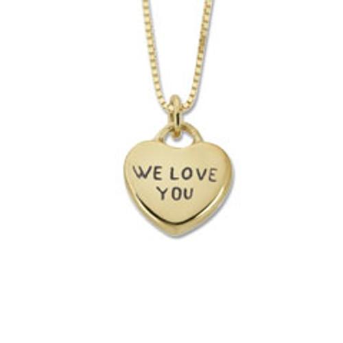 "14kt Candy Heart Pendant ""We Love You"""