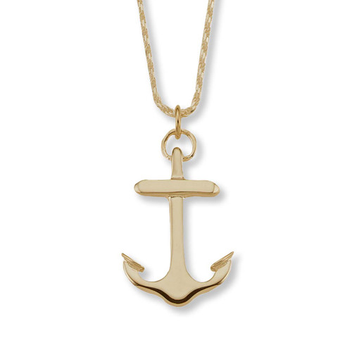 14kt Large Anchor Pendant