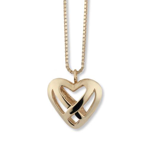 Classy 14kt Gold Celtic Heart Pendant