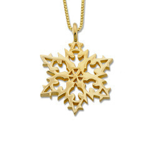 14kt 2007 Snowflake Pendant