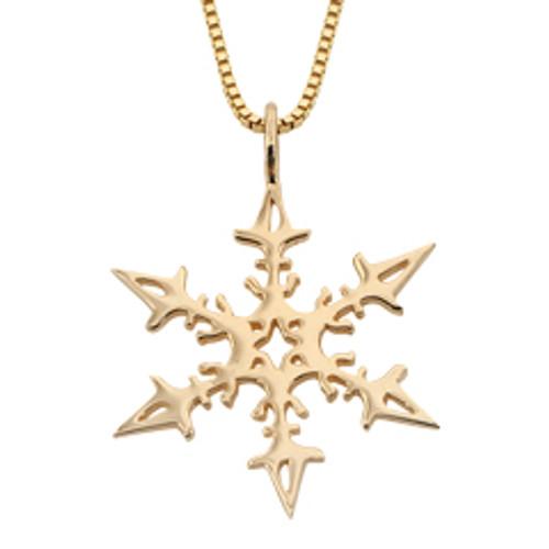 14kt 2008 Snowflake Pendant