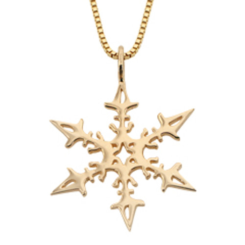 14kt Gold 2008 Snowflake Reflect Pendant