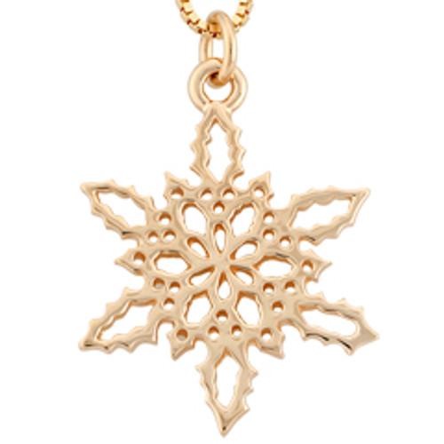14kt 2010 Snowflake Pendant