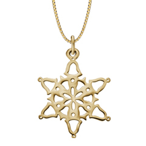 14kt Gold 2014 Snowflake Pendant