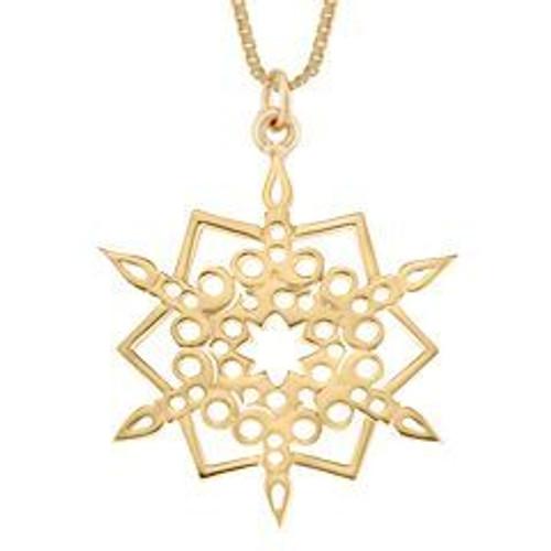 14kt 2016 Snowflake Pendant