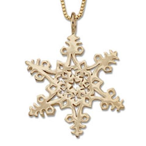 14kt 2005 Snowflake Pendant