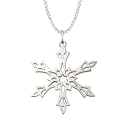 Sterling Silver 2002 Snowflake Inspired Pendant