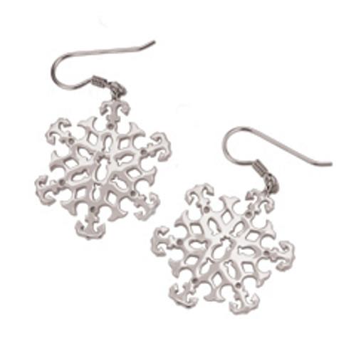 Sterling Silver 2003 Snowflake Earrings