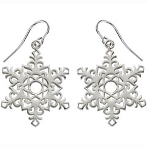 Sterling Silver 2017 Snowflake Earrings Signifies Dedication