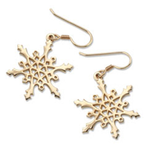 14kt 2004 Snowflake Earrings symbolize Love