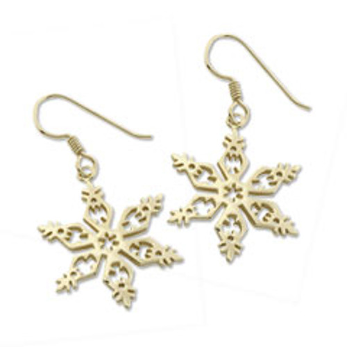 14kt 2006 Snowflake Earrings ymbolize Endurance