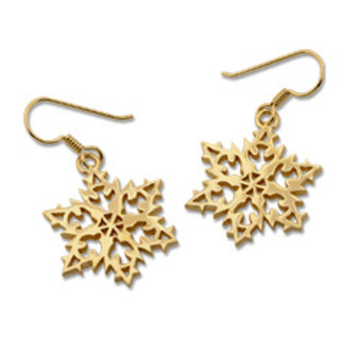 14kt 2007 Snowflake Earrings for universal Hope