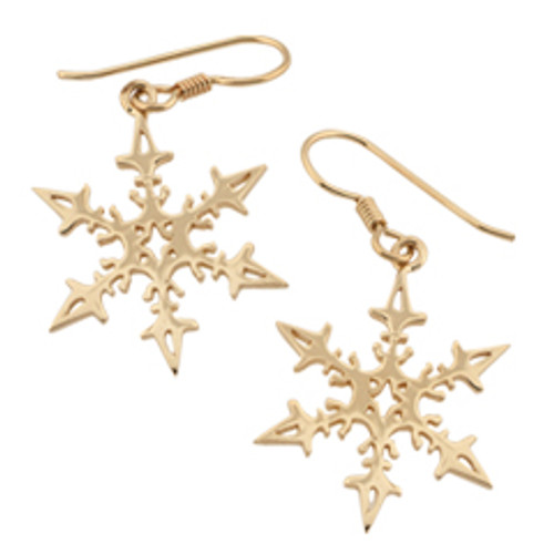 14kt 2008 Snowflake Earrings Reflects Maritime heritage