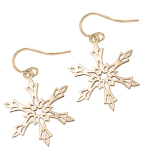 14kt 2002 Snowflake Earrings