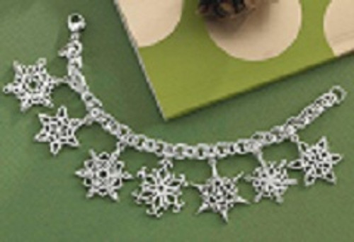 Sterling Silver 2017 Snowflake Charm Bracelet
