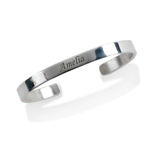 Sterling Silver Girl's Personalized Cuff Bracelet