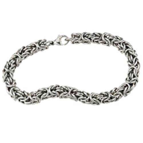Sterling Silver Men's Byzantine Bracelet