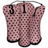 Beejo Pink Polka Dot Club Cover Set
