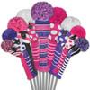 Just4Golf Pink & Purple Diagonal Stripe Fairway Cover