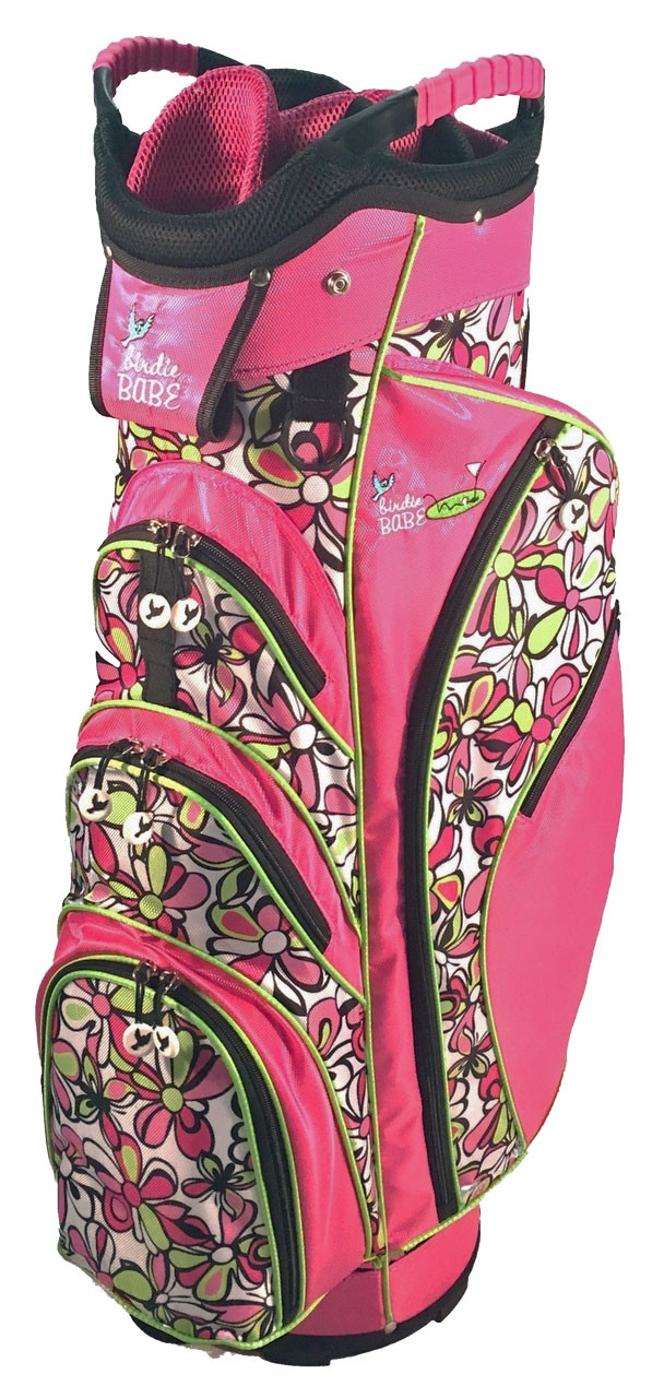Birdie babe pink flower power womens golf bag birdie babe flower power ladies golf bag mightylinksfo