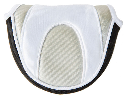 Naples Bay Silver & White Mallet Putter Cover