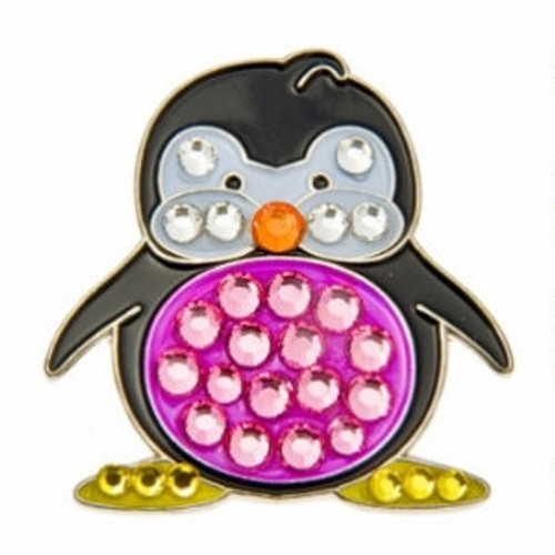 Bonjoc Penguin Trinity Swarovski Crystal Ball Marker