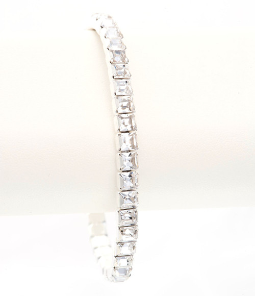 Bonjoc Crystal Swarovski Crystal Stretch Golf Bracelet