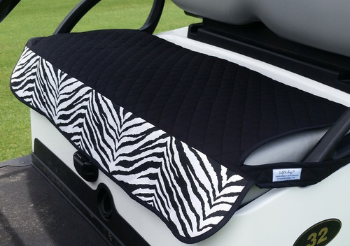 Quilted Zebra Cart Seat Cover