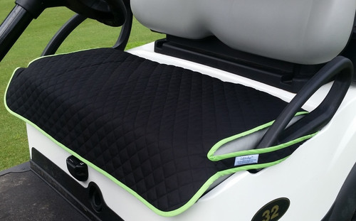 Quilted Black with Green Trim Seat Cover