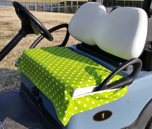 Green Polka Dot Cotton Cart Seat Cover