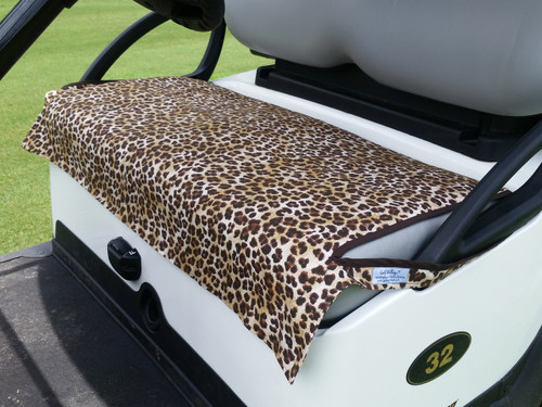 Leopard Cotton Cart Seat Cover