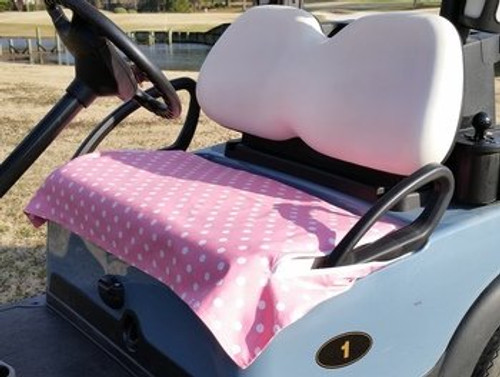 Pink Polka Dot Cotton Cart Seat Cover