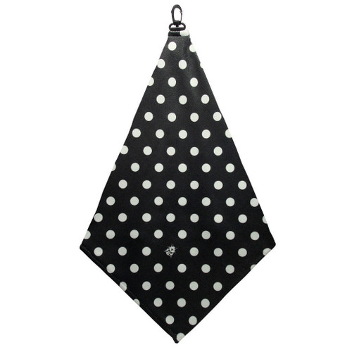 Beejo Black and White Polka Dots Golf Towel