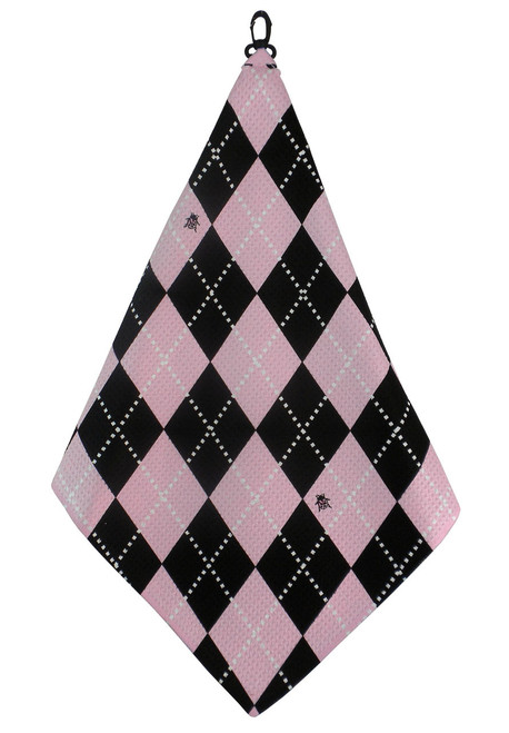 Beejo Pink Argyle Golf Towel