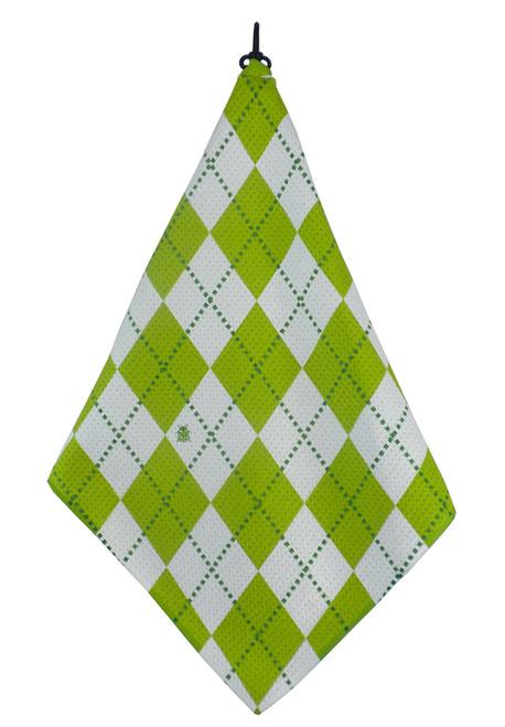 Beejo Lime Argyle Golf Towel