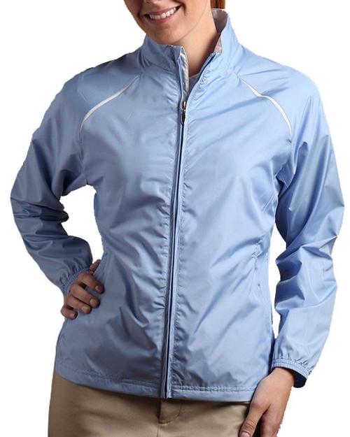 Glen Echo Light Blue Women's Ultra Lightweight Water Repellent Jacket