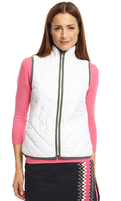 Golftini White Ladies Wind Vest
