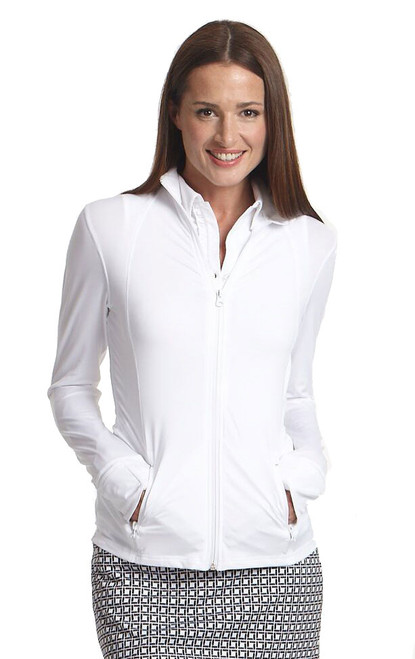 Golftini White Ladies Tech Jacket