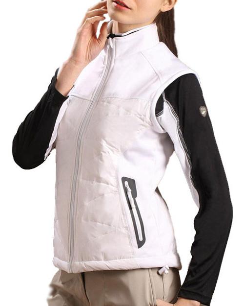 Glen Echo White Ladies Duck Down Vest