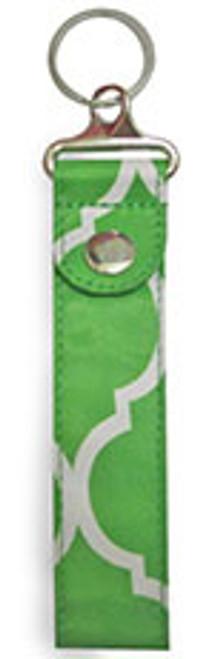 All For Color Lime Quatrefoil Key Fob