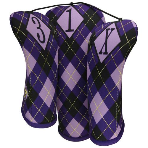 Beejo Purple Argyle Club Cover Set
