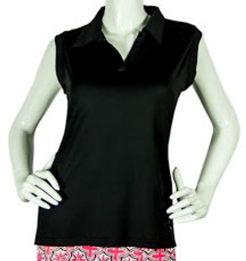2GG Black Seeveless Golf Polo - Sizes: XL & XXL