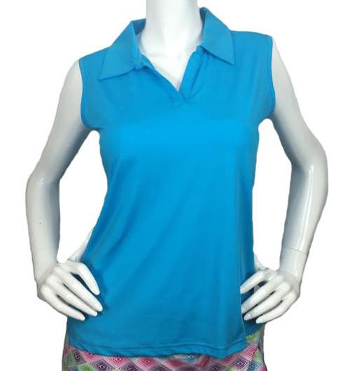 2GG Blue Seeveless Golf Polo - Size: XL