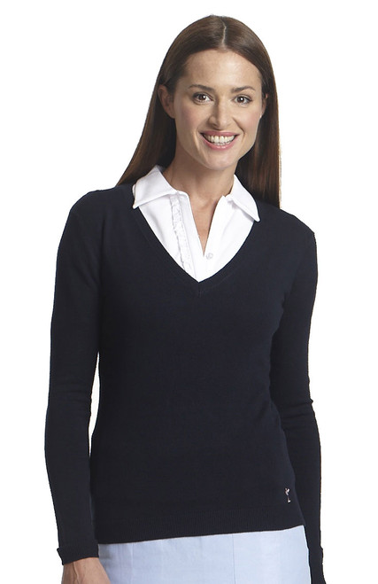 Golftini Ladies V Neck Golf Sweater - 2 Colors Available