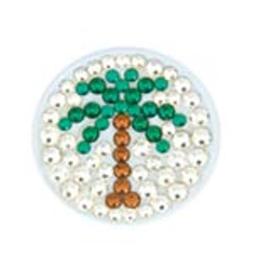 Bonjoc Palm Tree Swarovski Crystal Ball Marker